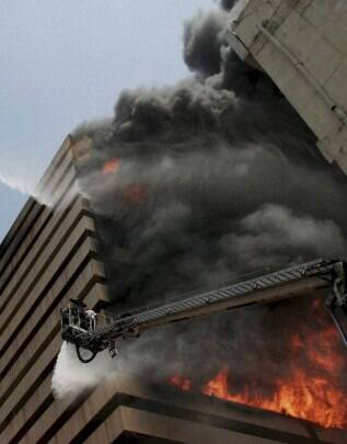 Fire breaks out in Surat commercial tower