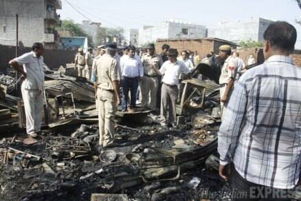 Fire breaks out at a godown in Gurgaon