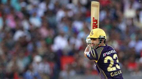 Gautam Gambhir hit his third consecutive fifty on Sunday (Photo: BCCI/IPL)