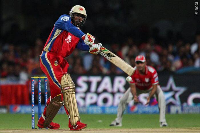 Chasing a gargantuan total of 198/8 was never going to be an easy task for the Royal Challengers Bangalore. Opener Chris Gayle was dismissed by Kings XI Punjab medium pacer Sandeep Sharma for just 4 runs. (Photo: IPL/BCCI)