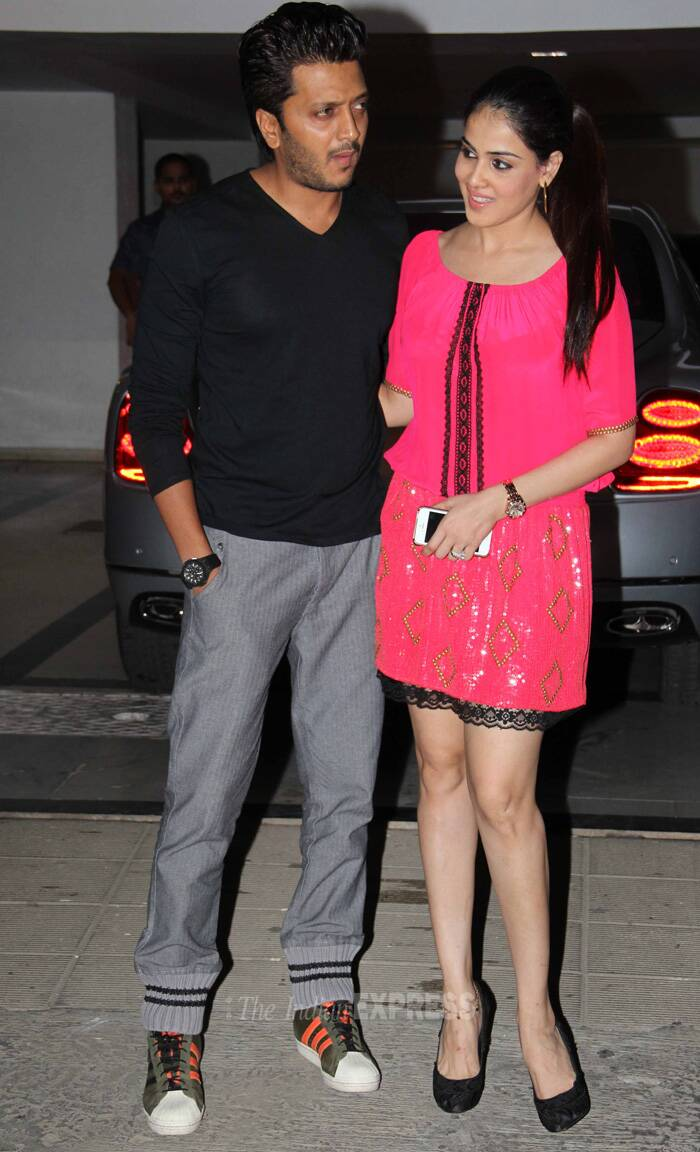 Ritiesh Deshmukh and Genelia also made it to the party. (Source: Varinder Chawla)