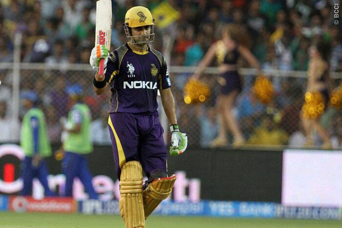 Kolkata skipper Gautam Gambhir was back to his usual form and scored a well paced half-century. He  was dismissed for 54 in the 15th over by Shane Watson. (Photo: BCCI/IPL)