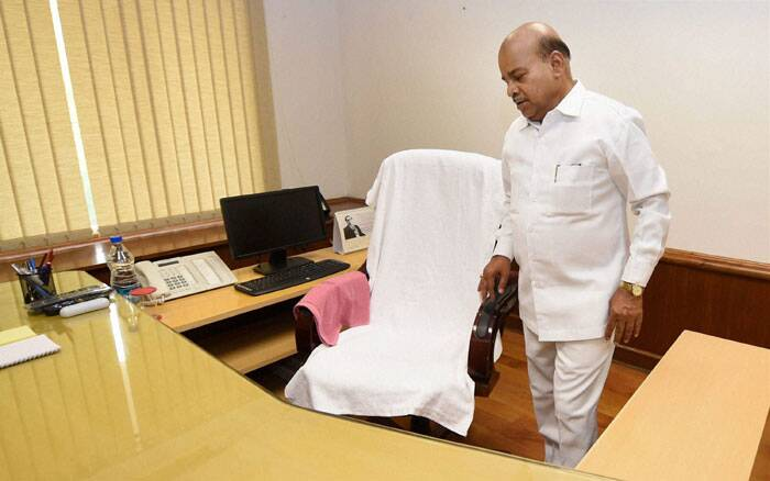 Thaawar Chand Gehlot takes over as Minister of Social Justice & Empowerment in New Delhi. (Source: PTI)