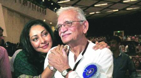 Gulzar with his daughter Meghna. (Renuka Puri)