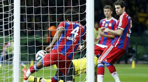 Replays suggested the ball had crossed the line before Bayern's Dante could clear it. (Reuters)