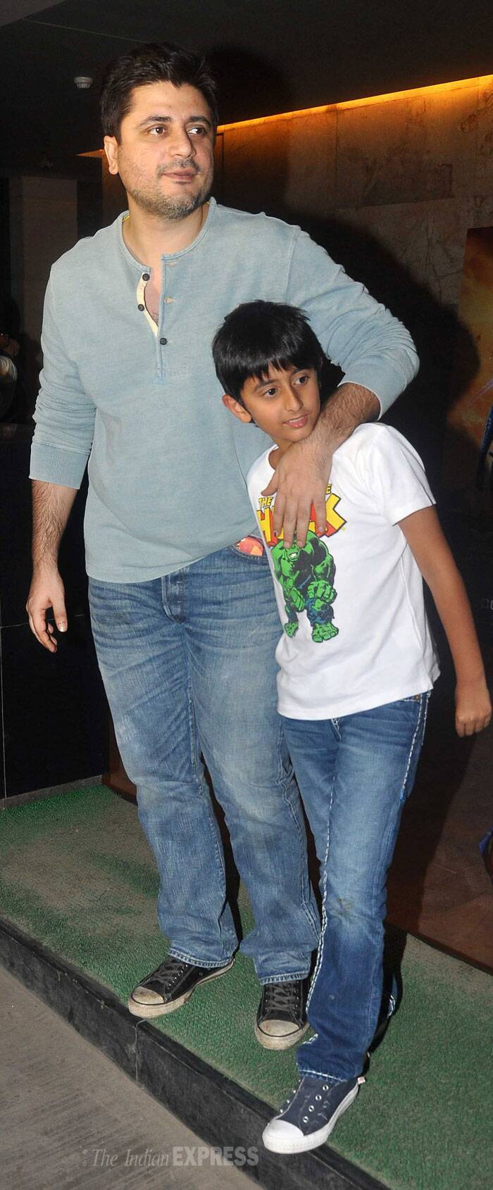 Doting dads Hrithik, Saif enjoy movie night with kids