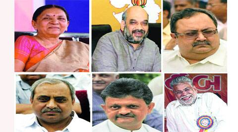 Several names, including those of Amit Shah, Anandi Patel, Nitin Patel, Saurabh Patel, Bhiku Dalsania and Purshottam Rupala, are doing the rounds as possible successor to incumbent CM.