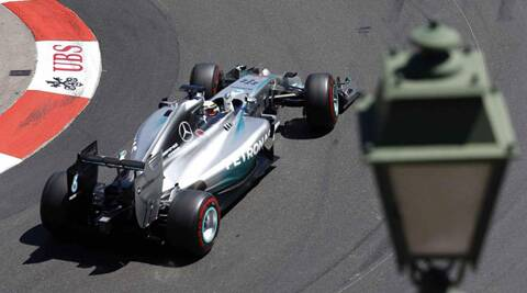 The Briton has never qualified on pole position before at Monaco, although he won the race in 2008 with McLaren on his way to the title. (Reuters)