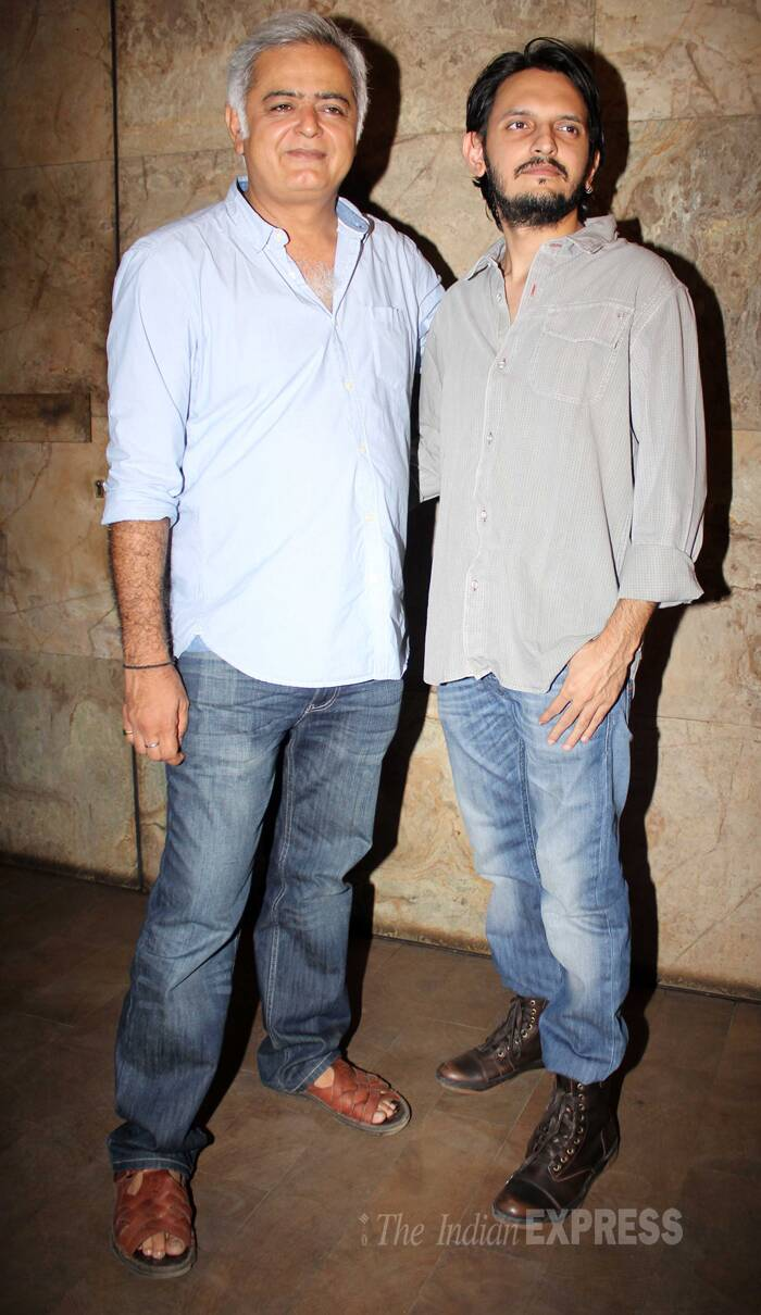 Directors roll call - Hansal Mehta and Vishesh Bhatt. Vishesh had directed 'Murder 3.' (Source: Varinder Chawla)