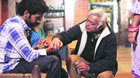 Rajkummar Rao with Hansal Mehta on the sets on Citylights.