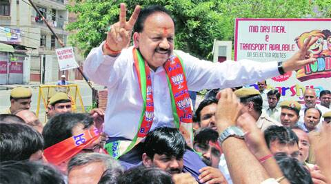 "Harsh Vardhan made it clear that the BJP would not try to form a government in Delhi by resorting to any sort of ""manipulation""."