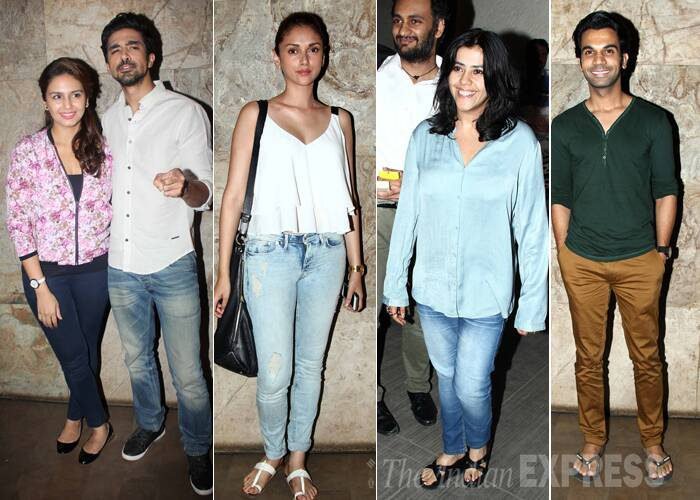 Aditi, Huma, Rajkummar, Ekta step out for a movie night