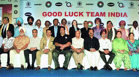 Members of the 1975 World Cup winning team at a felicitation on Wednesday.