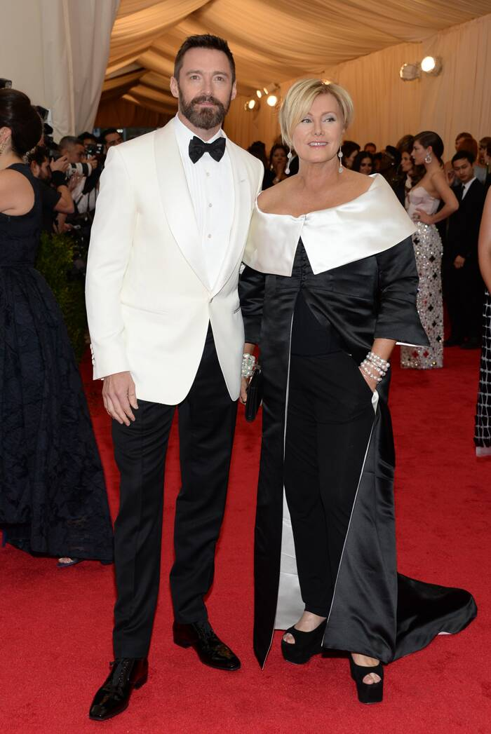 'Wolverine' star Hugh Jackman was dashing in a Tom Ford tuxedo as he was accompanied by his wife Deborra-Lee Furness.