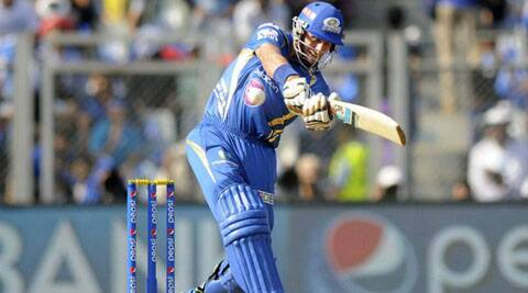 Michael Hussey top-scored with 56 to help Mumbai post 173 against Delhi. (Source: IPL/BCCI)