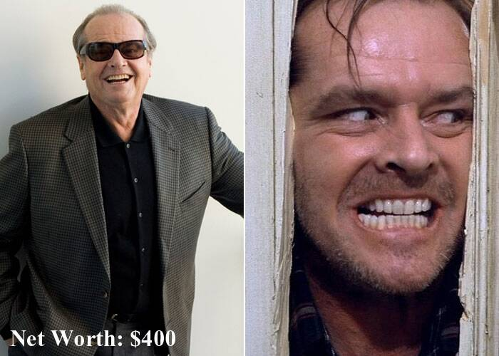 'The Shining' actor Jack Nicholson is at No. 6. (Source: AP)
