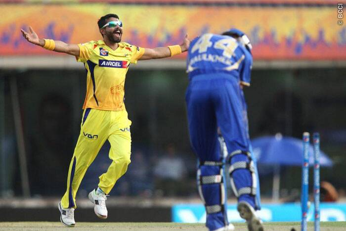 Chennai Super Kings all-rounder Ravindra Jadeja bowled a clinical spell to get his side back in the game after a lacklustre start. Jadeja took two wickets and gave away just 18 runs from his four overs. (Photo: IPL/BCCI)