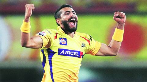 Ravindra Jadeja of the Chennai Super Kings celebrates after dismissing Suryakumar Yadav of the Kolkata Knight Riders (Photo: BCCI/IPL)