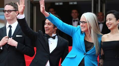 """There is inherent sexism in the industry. ... It does feel very undemocratic,"" said Jane Campion.  This year's jury president, sitting alongside jury members Wednesday including director Sofia Coppola and actors Gael Garcia Bernal and Willem Dafoe. (AP)"