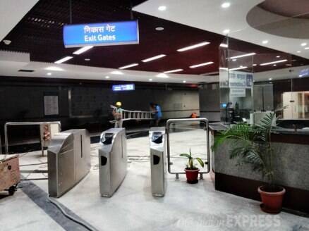Sneak peek: Newly constructed Janpath metro station