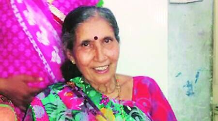 62-year-old Jashodaben is 100 per cent entitled to elite Special Protection Group (SPG) cover.  (Source: Express photo by Bhupendra Rana)