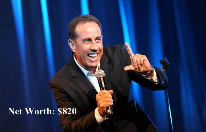 Comedian Jerry Seinfeld has topped the list of top 10 wealthiest Hollywood and Bollywood celebrities released by by Wealth-X website. Jerry has a fortune of $ 820 million. (Source: AP)