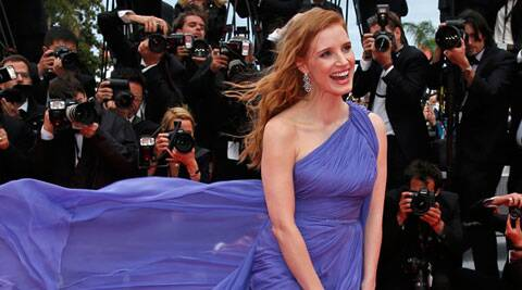 Jessica Chastain at Cannes Film Festival. (AP)