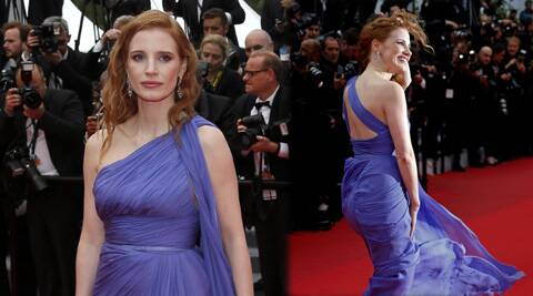 A stiff breeze made conditions challenging for the glamour girls walking the Cannes red carpet Monday.