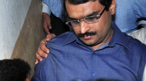 Financial Technologies Group promoter Jignesh Shah taken to the court on Thursday. (IE photo: Pradip Das)