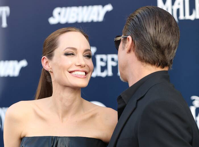 Hollywood's 'IT' couple Jolie and Pitt looked much in love at the premiere. (Source: AP)