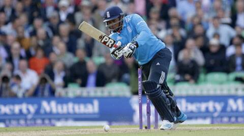 England's Chris Jordan shared a (AP)