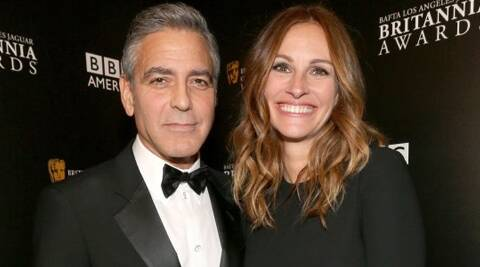 The 'Pretty Woman' star said that she could not have been more happy for Clooney, reported Showbiz Spy.  (Reuters)