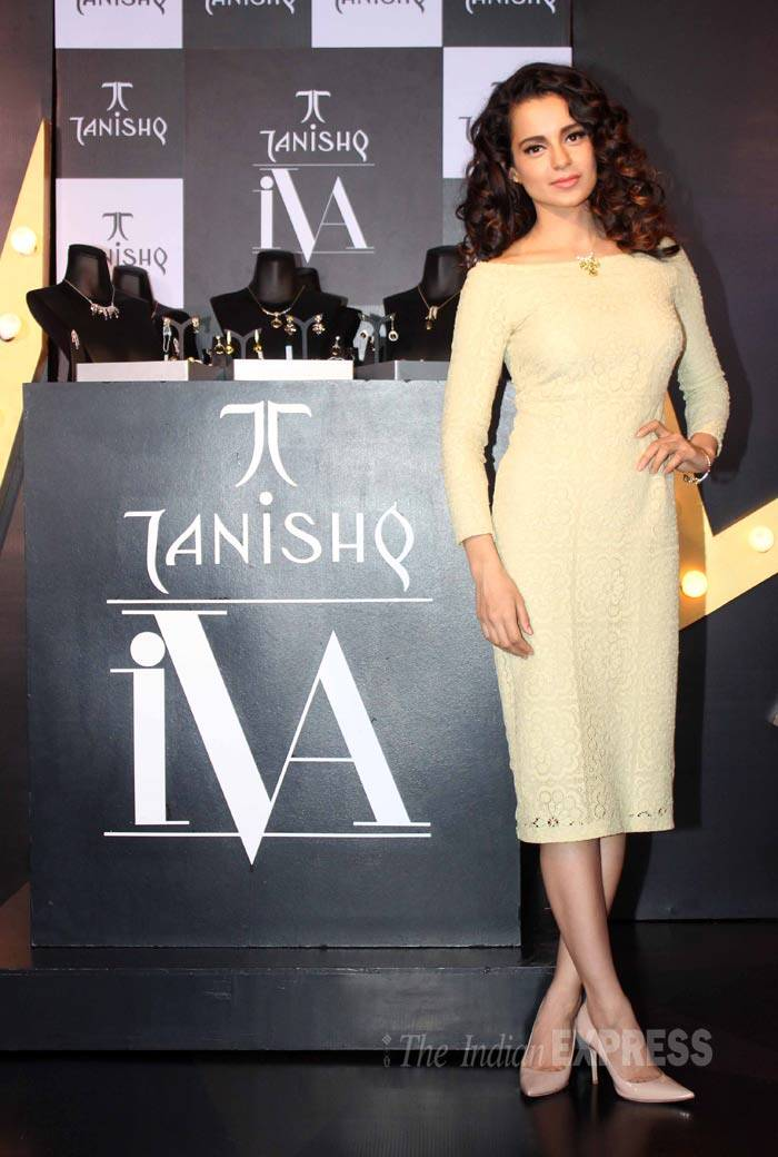 Bollywood's 'Queen' Kangana Ranaut looked her best as she unveiled the new jewellery line of a popular brand she will be endorsing. (Source: Varinder Chawla)