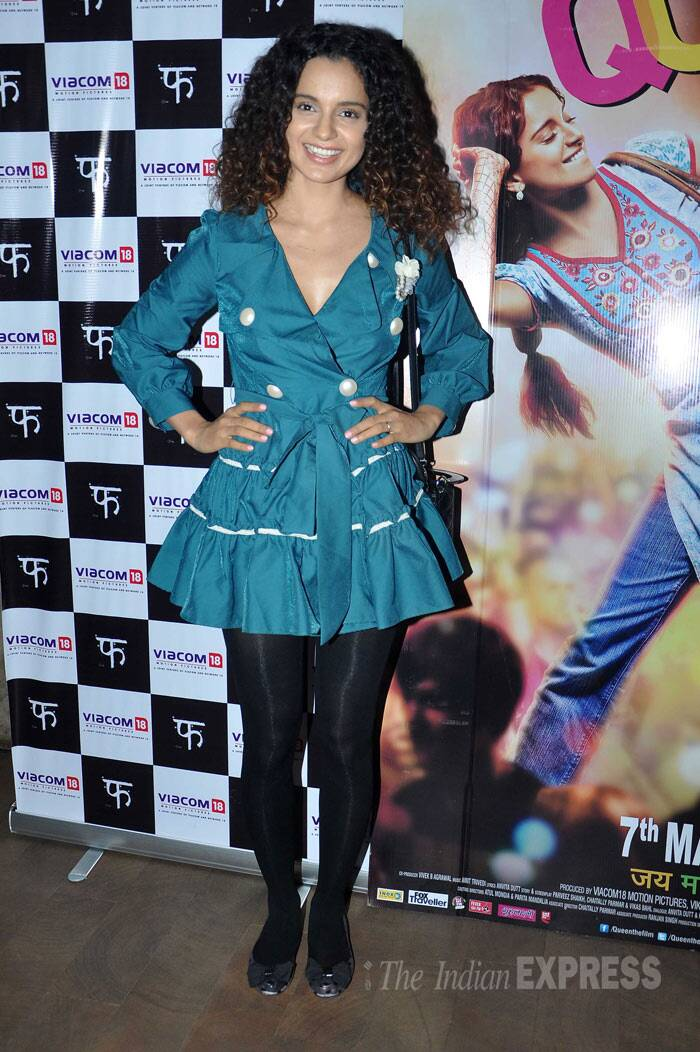 She maybe known as Bollywood's fashionista, but even Kangana Ranaut makes mistakes, quite like this frilly-buttoned one on black tights.
