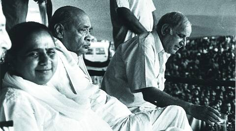 BSP leaders Kanshiram and Mayawati with PV Narasimha Rao (centre) at a meeting in Agra.