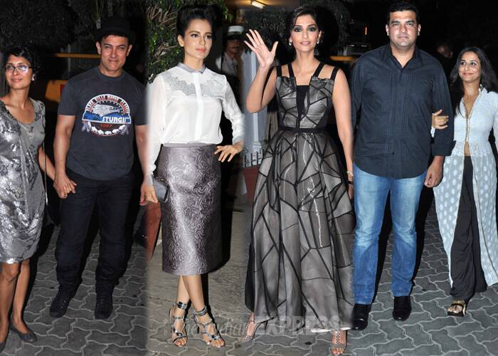 Bollywood A-listers including Aamir Khan, Vidya Balan, Sonam Kapoor among others partied with director, producer and actor Karan Johar at his Mumbai residence on May 24, on the eve of his 42nd birthday. A look at who else made it to the most happening part of Bollywood. (Source: Varinder Chawla)