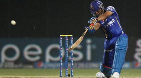 Karun Nair hits the winning runs for Rajasthan Royals against the Delhi Daredevils at the Ferozshah Kotla Stadium, New Delhi on Saturday. (IPL/BCCI)