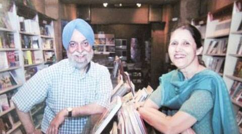 KD Singh with wife Nimi at the Khan Market store that shut in 2006
