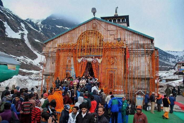 Sacred portals of the Kedarnath temple were reopened to devotees amid elaborate rituals early morning on Sunday (May 4), about a year after the Himalayan shrine was marred by flash floods that had left hundreds of people dead and many others stranded.  (PTI)