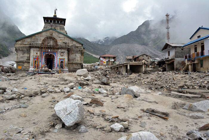 A file photo of the devastated Kedarnath temple last year. (AP)