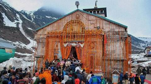 The moment the weather clears up, devotees at Sonprayag base camp will be allowed to go to the shrine to pay obeisance. (PTI)