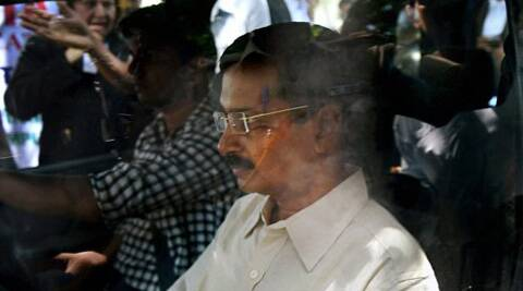 AAP convener Arvind Kejriwal leaving from Patiala House court in New Delhi on Wednesday. (Source: PTI)