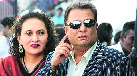 A file photo of Hasan Ali Khan and his wife Rheema