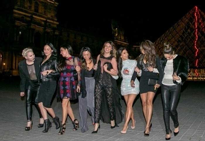 After dinner, Kim and her friends went to the Louvre where cane be seen sharing a laugh as they strut around in their high heels. <br /><br /> Ahead: When Kim went shopping with daughter North. (Source: Instagram)