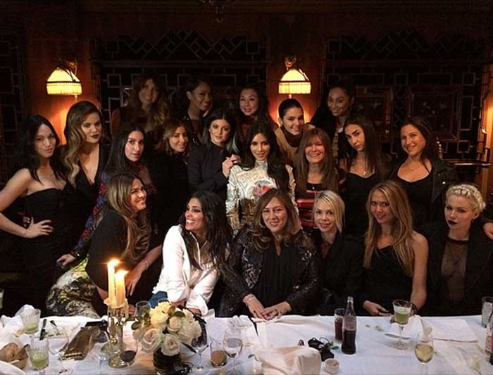 "Kim also had a wonderful dinner with sisters Khloe, Kendall and Kylie along with her close friends LaLa Anthony, Brittny Gastineau and Rachel Roy. She shared a picture of them at the dinner table with the caption, """"I'm so lucky! I have the best friends in the whole wide world! #ParisNights #LastSupper."" (Source: Instagram)"