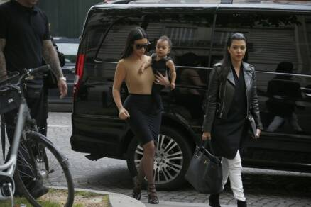 Kim Kardashian goes shopping with daughter North ahead of wedding