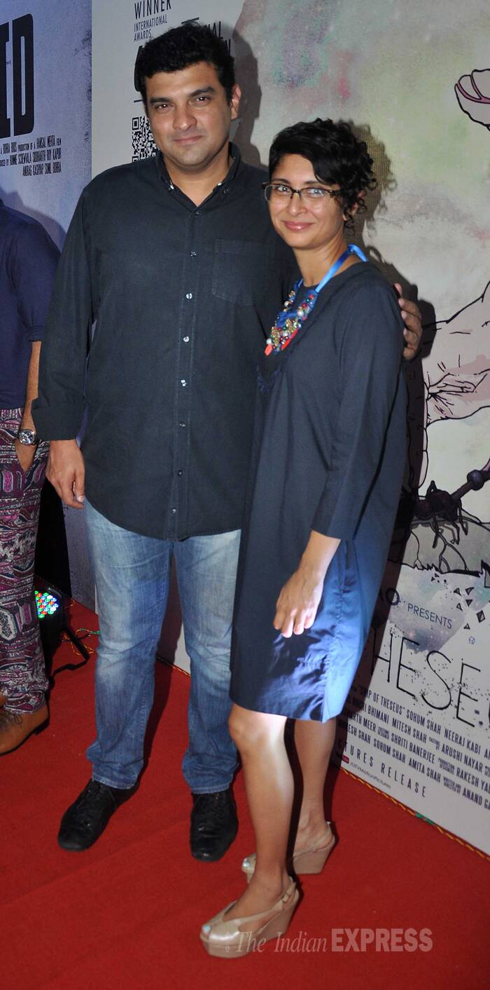 UTV's Siddharth Roy Kaour made it to the celebration sans wife Vidya Balan. Vidya has refuted reports of a reported rift between the couple. <br /> Seen here, Siddharth and Kiran strike a pose for the shutterbugs. ( Source: Varinder Chawla )