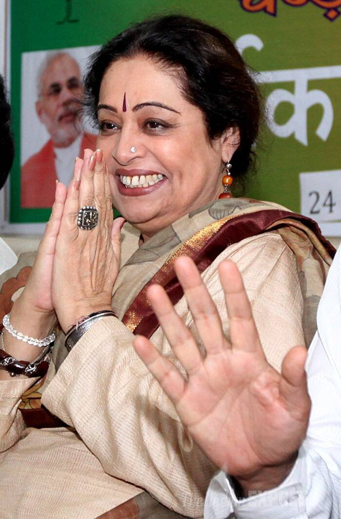 Kirron Kher of BJP has won from Chandigarh.