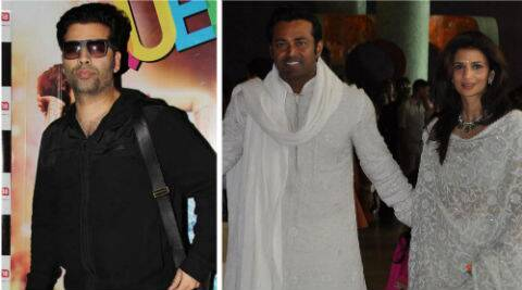 Karan Johar defended Rhea Pillai from Leander Paes' accusations on Twitter.