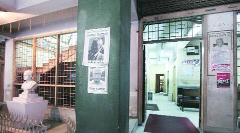 CPM headquarters  at Alimuddin street in Kolkata wore a deserted look on Friday — the day  results of the Lok Sabha elections were announced.  ( Source photo by Partha Paul )